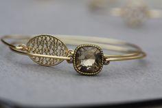 Smoky Topaz- French Mousse Bangle Bracelet Set - Minimalist Jewelry- Personalized Custom Bangle- Bridesmaids Gift Ideas by LayeredWithLove on Etsy https://www.etsy.com/listing/117599229/smoky-topaz-french-mousse-bangle