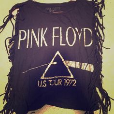 Pink Floyd fringe top Pink Floyd 1972 tour shirt with metallic lettering and lots of fringe. Comfortable, stretchy and light weight. Worn few times, in great condition Forever 21 Tops