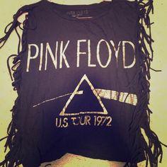 Forever 21 Tops - Pink Floyd fringe top