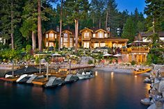 Mansion dream house: Oracle Billionaire Larry Ellison's Stunning Lake Tahoe Getaway Compound