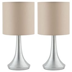 2 Touch Table Lamps - Taupe