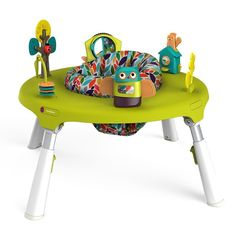 Oribel PortaPlay Convertible Activity Center Forest Friends - Entertains baby with bounces and delightful learning toys. PortaPlay™ also folds flat for maxi Travel Activities, Infant Activities, Toddler Play Table, Toddler Toys, Infant Toddler, Infant Play, Developmental Toys, Magazines For Kids, Forest Friends