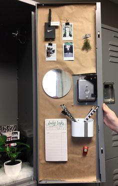 Back to school: Locker ideas – Locker Decorations Cute Locker Decorations, Cute Locker Ideas, Diy Locker, Sports Locker, Middle School Lockers, Middle School Supplies, Back To School, School Goals, School Study Tips
