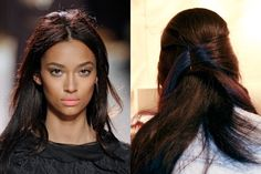 Nina Ricci, Fall 2011 half-up voluminous hairstyle  | allure.com