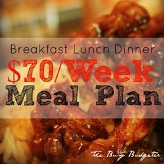 Our 70 Week Meal Plan for a Family of Four of 20 Minute Meals Family Meal Planning, Budget Meal Planning, Cooking On A Budget, Budget Meals For A Week, Family Meals, Easy Cooking, Frugal Meals, Quick Meals, Freezer Meals