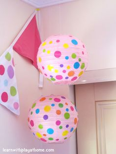 Learn with Play at home: DIY Kids Room Decor. Spotty Lanterns