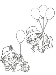 desenhar patati patata Clown Crafts, Carnival Crafts, Circus Carnival Party, Carnival Themes, Adult Coloring Book Pages, Cute Coloring Pages, Coloring Pages For Kids, Coloring Sheets, Coloring Books