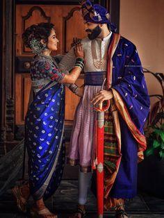 Indian Wedding Poses, Indian Wedding Couple Photography, Indian Bridal Outfits, Indian Bridal Fashion, Bride Photography, Indian Weddings, Marathi Bride, Marathi Wedding, Bridal Looks
