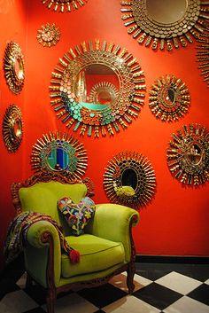 Love the colors, love the mirrors ... Mexicana | Hadedashop
