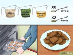 How to Make Rabbit Treats. Rabbit treats can be purchased at stores but it can also be fun to make your own. Rabbit treats can be baked or made raw. Make sure you know what precautions to take when it comes to making rabbit treats. Horse Treats, Pet Treats, Rabbit Toys, Pet Rabbit, Homemade Rabbit Treats, Pet Bunny Rabbits, Lop Bunnies, Rabbit Habitat, Beauty Hacks