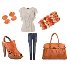 Simple look with a pop of color, created by girlyez.polyvore.com
