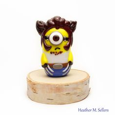Minion Wolverine by Heather Sellers.  #wolverine #minion #heathersellers #glass