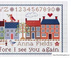 Large Ocean Cross Stitch Sampler (Part Cross Stitch Sea, Cross Stitch House, Cross Stitch Alphabet, Cross Stitch Samplers, Cross Stitch Charts, Cross Stitching, Cross Stitch Embroidery, Cross Stitch Patterns, Blackwork Patterns