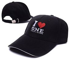 8af378064e135 I Love One Direction Band Logo Adjustable Baseball Caps Unisex Snapback  Embroidery Hats I Love One