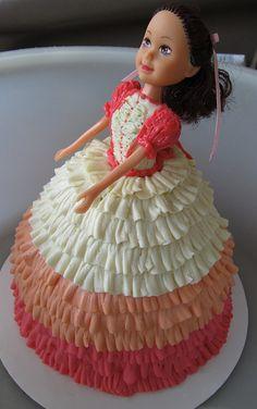 Kaylee's layer cake dress doll cake.  Future birthday cake?