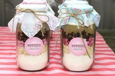 cookie mix mason jars