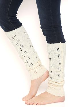 Deb Shops crochet knit leg warmer $7.00