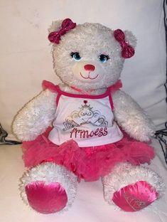 NEW Build a Bear Princess Bear & Outfit   Mercari Disney Princess Costumes, Pink Tutu, Friend Outfits, Build A Bear, Pink Sequin, New Builds, Friends, Clothes, Amigos