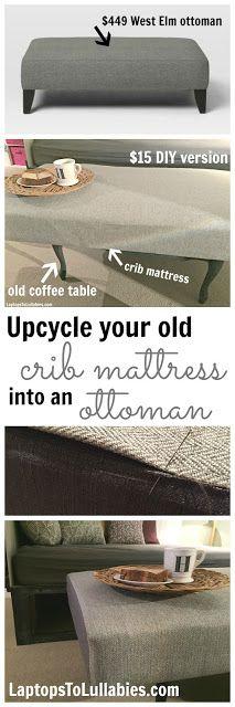 ((Made me laugh)) Laptops to Lullabies: DIY crib mattress ottoman
