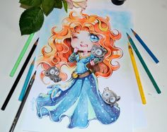 Chibi Merida by Lighane.deviantart.com on @DeviantArt