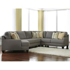 Chamberly - Alloy Modern 4-Piece Sectional Sofa with Left Cuddler & Reversible Seat Cushions by Signature Design by Ashley at Gardiners Furn...