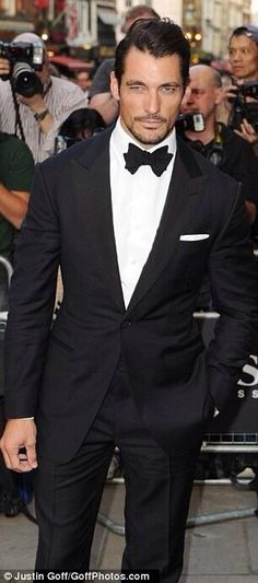 So sexy in his classic tux