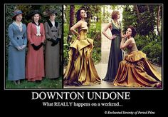 Enchanted Serenity of Period Films: Downton Abbey: What is a weekend?
