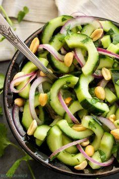 Crunchy Thai Cucumber Salad | This Crunchy Thai Cucumber Salad is a little sweet, a little spicy and a whole lot of good!