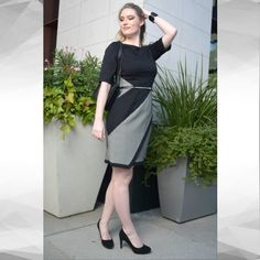 @Vkbro wearing our beautiful #Sandra Darren black and white #Career dress. its got elbow sleeves perfect for the cold weather! Great to wear to work and afterwards cocktails at the bar with friends. This dress is very versatile and is super chic. #Sandradarren #shopping #sheath #classy #photoshoot #streetstyle #blackandwhite #stylish #monday #houstonfashion #fashion #fashionista #cocktails #officechic #workstyle #fallfashion #fallseason #winter #workinggirl #sleektrends #weartowork #bosslady…