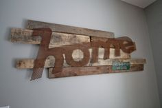 Wood and Metal Home wall sign. Custom Established Sign.