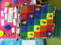 Kindergarten Handprint Quilt.