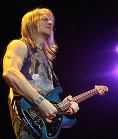 STEVE MORSE: Guitar. After Joe Satriani's refusal to join Deep Purple after the band's 1994 tour, the group settled on Dixie Dregs guitarist Steve Morse as Blackmore's permanent replacement. Since 1994, Morse has appeared on four studio and seven live albums with Deep Purple. (http://www.guitarworld.com)