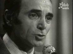 """Charles Aznavour Les Deux Guitares 1972 - extrait de lémission """"Cadet Rouseele"""" avec charles Aznavour et Dalida"""