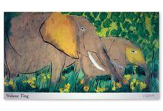 Walasse Ting, Elephants (Sm) on OneKingsLane.com