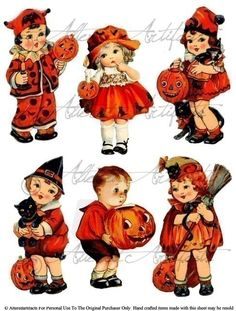 Hey, I found this really awesome Etsy listing at https://www.etsy.com/listing/207676048/vintage-halloween-trick-or-treaters