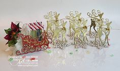 Spellbinders Reindeer Sleigh by Teresa Horner