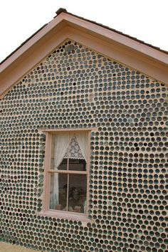 bottles in earthen walls - Google Search