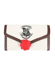 Harry Potter Hogwarts Letter Flap Wallet $16.90   I need this!