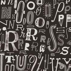 Letters letters letters! #regram from Hallmark artist @ambergoodvin. #letters #handmade #handlettering #handmadefont #dslettering #typespire #handdrawn #goodtype #calligritype #thedailytype