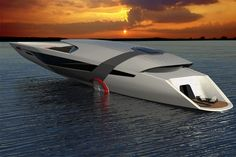 Unlike Tesla cars, the all-electric Tesla Model Y yacht is a self-sustaining design that charges itself... with a little help from the sun and sea, that