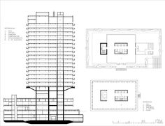 terrazas de edificios altos de mario roberto alvarez - Buscar con Google Banks Office, Mix Use Building, Norman Foster, Ibm, Mario, Floor Plans, How To Plan, Architecture, Facades