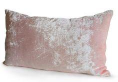 Pink Pillow Cushion Cover Blush Pink Lumbar Chair Pillow Soft Pink Velvet Throw Pillow Toss Accent Pillow Gift For Her -All Sizes -Nursery