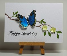 Cathy's Card Spot: Turquoise butterfly