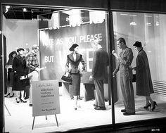 Window display promoting election voting, Dayton's, Minneapolis  Photographer: Norton & Peel  Photograph Collection 10/26/1956