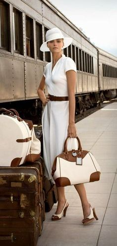 all white.....all chic....travel in style.