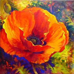 ac-0202-01 Acrylic Painting Flowers, Acrylic Pouring Art, Abstract Flowers, Acrylic Art, Watercolor Flowers, Watercolor Paintings, Poppies Art, Poppies Painting, Red Poppies
