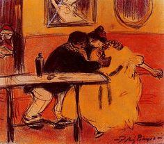 """""""El Diván"""", huile de Pablo Picasso (1881-1973, Spain)"""