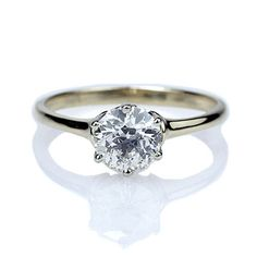 Replica Edwardian Solitaire Engagement Ring - 3372-01