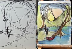Artist Turns Her 2-Year-Old's Sketches Into Paintings