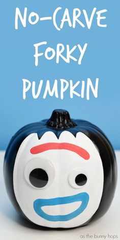 It's so easy to make a No-Carve Forky pumpkin of your very own this Halloween! (The hardest part is keeping it from jumping in the trash!) Get the details on this easy and fun Halloween craft (along with lots of Disney and Pixar DIY inspiration) at As The Bunny Hops. Disney Crafts for Kids